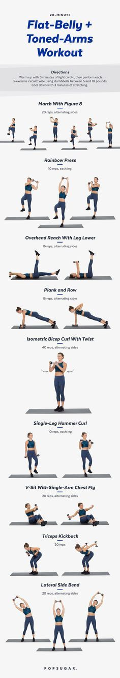 20-Minute Arms and Abs Workout With Weights | Posted By: NewHowToLoseBellyFat.com