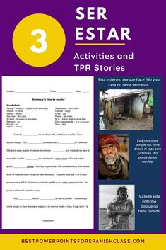 Three Ser Estar TPR Stories and Activities by Angie Torre The first story is about the twins, Ana and Maria. One day, Maria is too sick to go to school so Ana goes to her classes in her place. She also goes out with Maria's boyfriend while pretending to be Maria. The activities recycle and reinforce the concept. See how this can help you teach middle and high school students. #SerEstar #TPRS