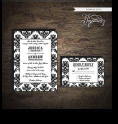 www.etsy.com/shop/joytationsDAMASK  Wedding Invitation Suite by Joytations on Etsy