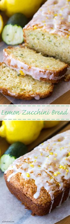 This simple zucchini bread recipe has a lemon twist to it, making it the perfect quick bread for spring and summer! Lemon Zucchini Loaf, Blueberry Zucchini Bread, Zuchinni Bread, Lemon Bread, Zucchini Bread Recipes, Quick Bread Recipes, Simple Zucchini Recipes, Banana Bread, Zucchini Desserts