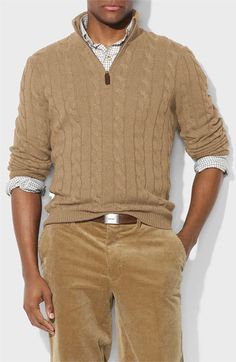 Polo Ralph Lauren Silk & Cashmere Half Zip Sweater available at #Nordstrom