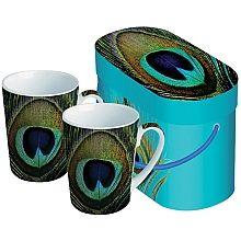 Paradise Peacock Mug Set - shopPBS.org
