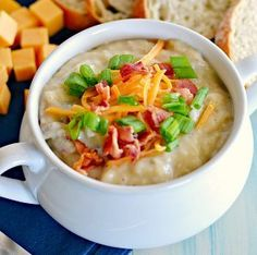 "Phenomenal ""Loaded"" Baked Potato Soup 