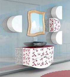 The Kos Collection of bathroom furniture from Italian furniture manufacturers Nova Linea Bagni