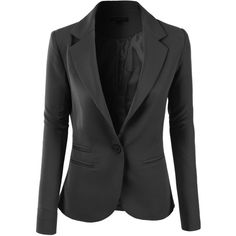 LE3NO Womens Slim Fit Single Button Tailored Boyfriend Blazer Suit... (7.365 HUF) ❤ liked on Polyvore featuring outerwear, jackets, blazers, blazer, coats, slim fit jacket, slimming cami, slim fit blazer, slim blazer and slim jacket