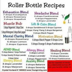 Roller Ball Blends with doTERRA Essential Oils Exhaustion, Headache, Muscle, Lift and Calm, Motivation, ADHD, Allergy, Healing, Sleepy, Anxiety