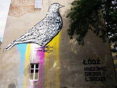 MURAL ŁÓDŹ Poland, Street Art, Painting, Painting Art, Paintings, Painted Canvas, Drawings