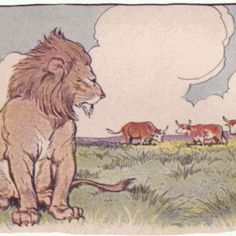 579.+THE+LION+AND+THE+THREE+BULLS+(with+youtube+video).