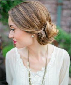 low bun wedding hairstyles - Google Search