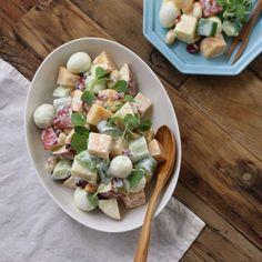 Easy Cooking, Cooking Recipes, Korean Food, Salad Dressing, Food Plating, Homemade Gifts, Pasta Salad, Salad Recipes, Potato Salad