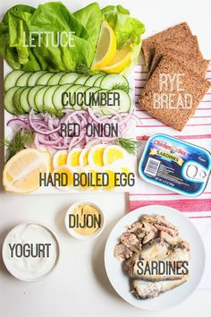 Scandinavian Sardine Sandwiches - refreshingly new recipes - Sardline Sandwich Recipes, Fish Recipes, Seafood Recipes, Gourmet Recipes, Cooking Recipes, Drink Recipes, Healthy Foods To Eat, Healthy Snacks, Healthy Recipes