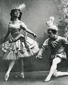 "Anna Pavlova and Vaslav Nizhinsky ""Павильон Армиды"" Париж 1909 год (премьера)"