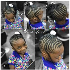 146 Likes, 3 Comments - Natural Hairstyles for Girls (Brown Girls Hair) on Insta. - The Right Hair Styles Cornrow Styles For Girls, Little Girl Braid Styles, Kid Braid Styles, Little Girl Braids, Black Girl Braids, Braids For Kids, Girls Braids, Kid Braids, Toddler Braids