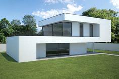 moderne woning, voorontwerp