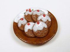 Galletas Pudding de Navidad en pintado a mano Pudding de Navidad Plate