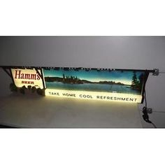 LARGE HAMMS BEER LIGHTED SIGN Lot 147E