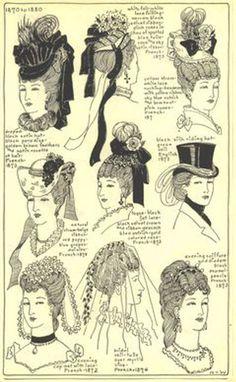Chapeaux période 1870-1880