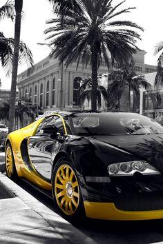 ( 2015...2016 ) - HOT ROD..BLACK & WHITE with HUES 2015. - Black & yellow car luxury Veyron.