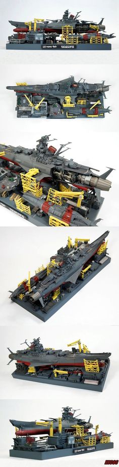 Here is my Finished 1/1000 space battleship Yamato dry dock diorama. featuring my Bandai 1/1000 Yamato and Uncf fleet set #2, with kitbashed and scratch built details. the base dimensions are rough...