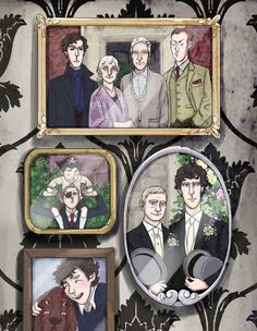 Is Mycroft doing the duck face? And then there's Sherlock and Mycroft paying pirate,  and then Redbeard, and John's wedding and,  oh the FEELS!!!