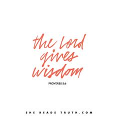 The fear of the Lord is the beginning of knoweledge #SheReadsTruth