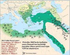 Osmanlı Yıkılırken Kaybedilen Topraklarda Dünya Petrol rezervinin yarısından fazlası bulunuyordu. Kaybedilen gelir yılda 850 milyar dolar! #OsmanlıDevleti