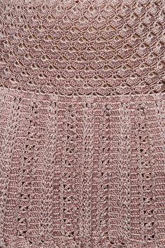 Mini Saia Crochet Cleopatra Madrepérola - Vanessa - vanessamontoro