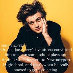 Stranger things facts joe keery #strangerthingsfunny