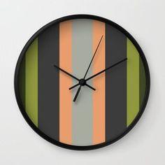 una de rayas Wall Clock