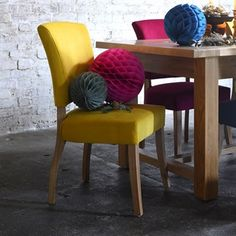 Bluebell Chair - Canary Yellow Velvet