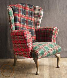 Tartan Wingback Armchair
