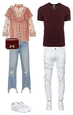 """Untitled #111"" by afivahapriani on Polyvore featuring 3x1, Anna Sui, adidas Originals, Hermès, Dolce&Gabbana and Dsquared2"