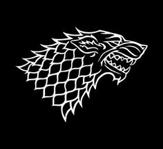 House Stark / Game of Thrones vinyl decal in choice of color (must request mirror cut to use in car window)