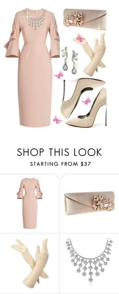"""""""Untitled #742"""" by mlka ❤ liked on Polyvore featuring Roksanda, Casadei, Lunar, Aspinal of London, Blue Nile and 1928"""