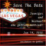 Save The Date Destination Las Vegas Wedding 2 Inch Square Magnet | Zazzle