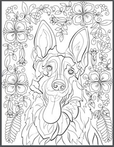 De-stress With Dogs: Downloadable 10 Page Coloring Book for Adults ...