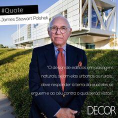 O arquiteto americano James Stewart Polshek, nascido em 1930, em Ohio, Estados Unidos, desenvolve projetos de design no estúdio Ennead Architects. Além disso, o profissional formado na Universidade de Yale atua em diversos projetos que têm como principal matéria-prima o chumbo.
