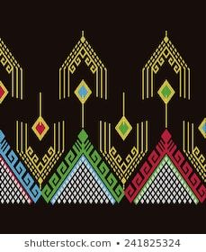 Creative Embroidery, Embroidery Designs, Tribal Patterns, Print Patterns, Vector Pattern, Pattern Art, Road Texture, Fashion Drawing Dresses, Weaving Textiles
