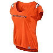 Nike Denver Broncos Fashion Jersey V-Neck T-Shirt - Orange