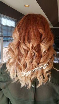 copper red ombre pravana