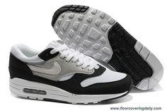 Mens Black White Medium Grey Khaki Nike Air Max 1 308866-028 Sale