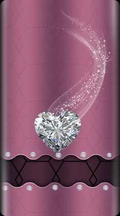 By Artist Unknown. Heart Iphone Wallpaper, Smile Wallpaper, Bling Wallpaper, Pretty Phone Wallpaper, Purple Wallpaper, Cellphone Wallpaper, Pretty Backgrounds, Pretty Wallpapers, Wallpaper Backgrounds