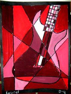 Sarah Pinyan posted cubism tints and shades. could do this with tape and watercolor to her -nice signs- postboard via the Juxtapost bookmarklet. Pablo Picasso, Picasso Cubism, Cubism Art, 4th Grade Art, Grade 2, Painting Lessons, Painting Art, Paintings, School Art Projects
