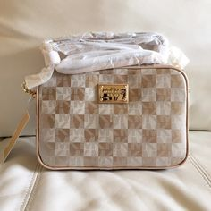 Michael kors checkerboard crossbody Gold large brand new with tags 100% authentic Michael Kors Bags Crossbody Bags