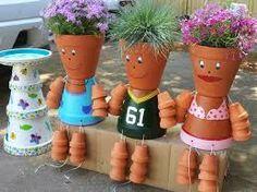 Risultati immagini per painted flower pot