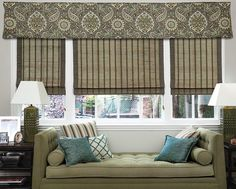 Corner Pleat Fabric Valances - Casual fabric valance, pleated valance, kitchen valance - Smith+Noble
