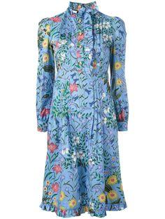 Gucci платье 'New Flora' с оборками