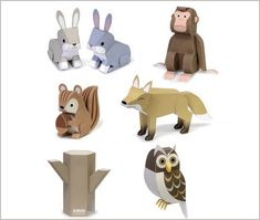 Freebie Printables - Paper Forest Animals.