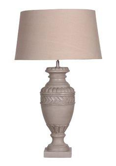 "Grey ""Roman Urn"" Table Lamp with Shade 74cm £145  harvestmoon"