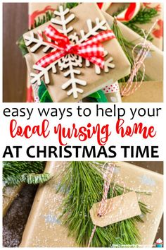 10 Ways to Help Your Local Nursing Home This Holiday Season! These ideas are easy and your family can make a difference in the life of the residents! Ideas for helping people at Christmas are helpful. Christmas Service, Family Christmas, Christmas Holidays, Christmas Crafts, Christmas Ideas, Christmas Bells, Christmas Wrapping, Christmas Recipes, Nursing Home Gifts